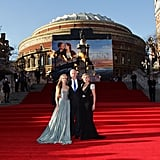 Kate Winslet posed with James Cameron and his wife at the Titanic 3D world premiere in London.