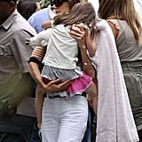 Katie Holmes gave Suri Cruise a lift in Miami.