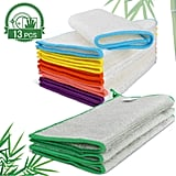 MASTERTOP 13 Pack 100% Bamboo Dish Cloths