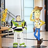 You'll also see life-size Lego statues of Buzz and Woody from Toy Story.
