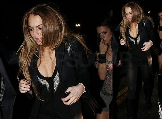 Photos of Lindsay Lohan Arriving Back Home After Partying at Bardot