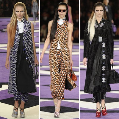 Runway Review and Pictures from Prada at 2012 A/W MilanFashion Week