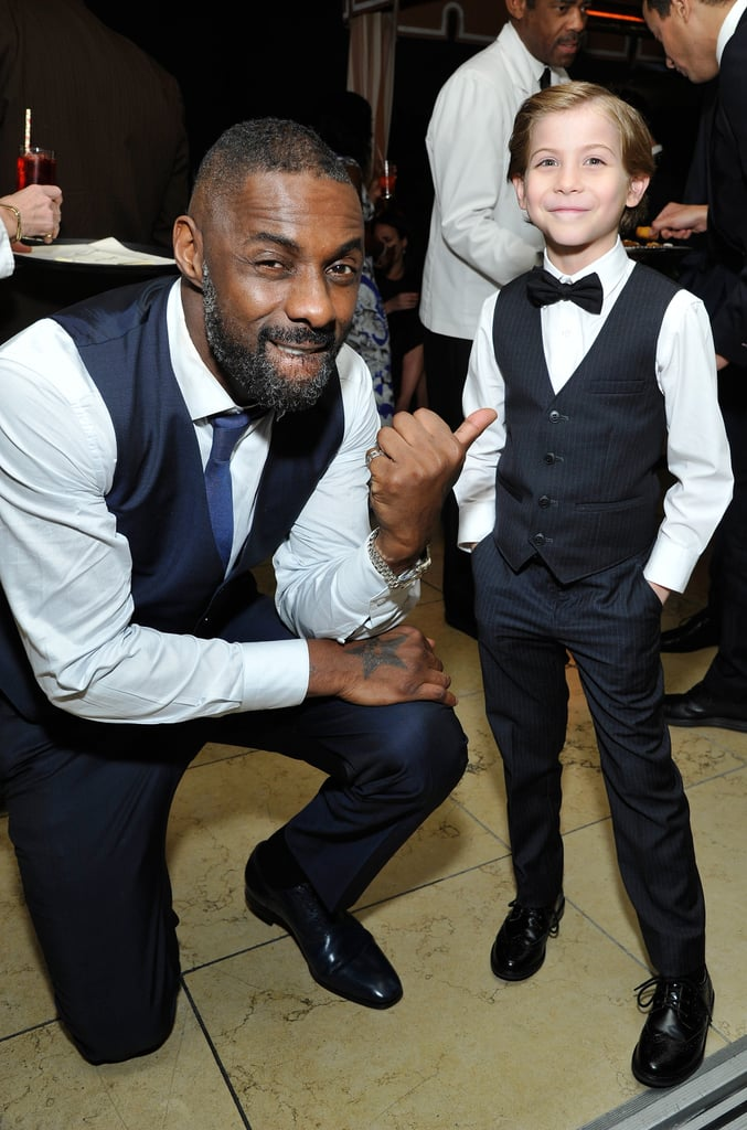 Idris Elba and Jacob Tremblay showed off their cute bromance backstage in 2016.
