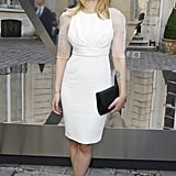 Scarlett Johansson had a laugh at the Tod's party in Paris.