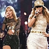 "Performing ""Jenny From the Block"" With Taylor Swift at the LA Staples Center in 2013"