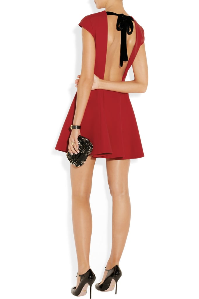 Miu Miu Open-Back Red Dress with Bow ($2,055)