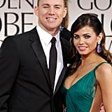 Channing Tatum and Jenna Dewan at the Golden Globes.