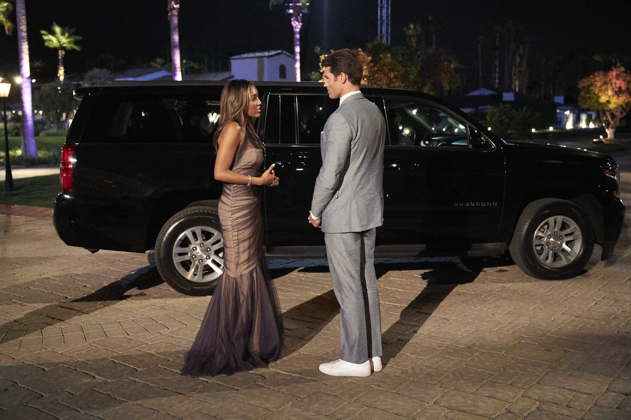 THE BACHELORETTE - 1609  The drama rages on as Bennett and Noah continue to confront one another on the impromptu two-on-one date. JoJo ups the ante by explaining to the men that a rose this week will be their ticket to a hometown date and an opportunity to introduce Tayshia to their families. One mans one-on-one date starts as a fun scavenger hunt but evolves into a more serious discussion when he shares a deeply emotional secret with the Bachelorette that he hasnt revealed to anyone else. Honesty is at the top of Tayshias list for a soul mate, and she puts five men through a high-pressure lie detector date. After all the confessions, there is one more shocking surprise at the end of the night that might turn her journey upside down on The Bachelorette, TUESDAY, DEC. 8 (8:00-10:01 p.m. EST), on ABC. (ABC/Craig Sjodin)TAYSHIA ADAMS, BENNETT
