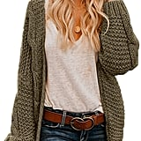 Astylish Open Front Chunky Knit Cardigan