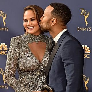 John Legend and Chrissy Teigen at the 2018 Emmys