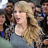 Taylor greeted fans outside of Good Morning America in October 2011.
