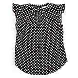 Print Ruffle-Sleeve Top
