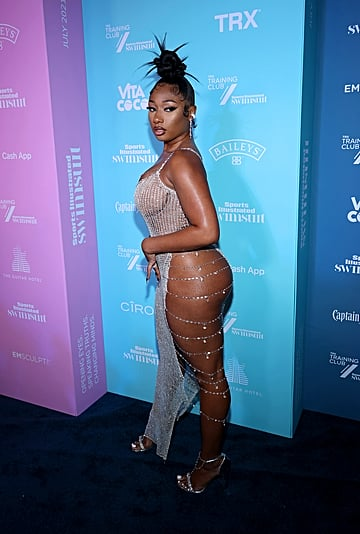 Megan Thee Stallion's Sexy Dress at Sports Illustrated Party