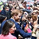 Prince Harry Meghan Markle Break Selfie Protocol in Sydney