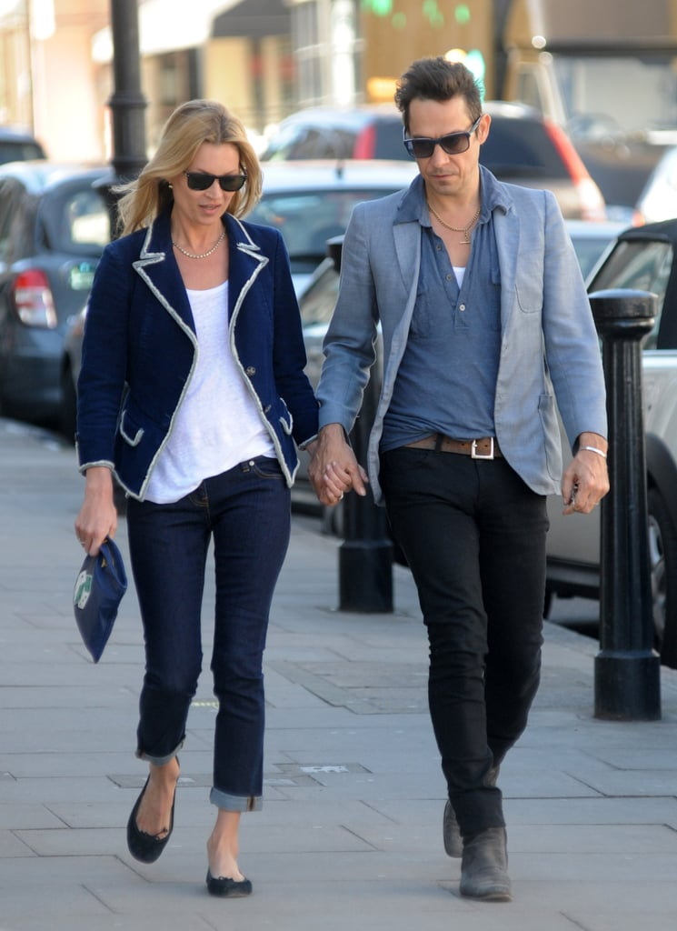 Kate Moss cuffed her boot-cut jeans for a slightly more ...
