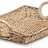 Threshold Decorative Woven Basket Tray with Round Wood Handles ($24.99)