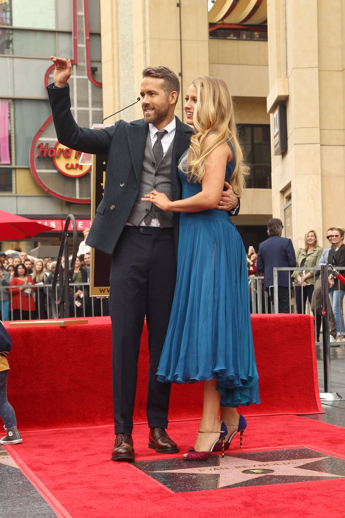 Ryan Reynolds and Blake Lively Hollywood Walk of Fame 2016