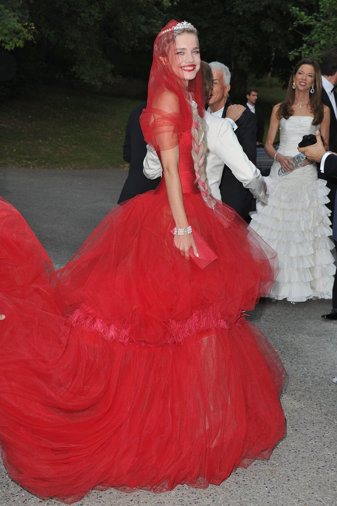 Natalia Vodianova in custom Valentino