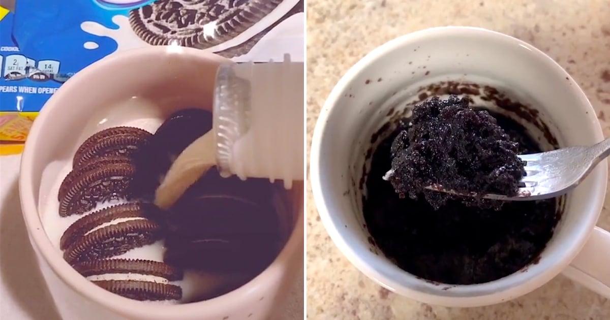 How To Make An Oreo Microwave Mug Cake Tiktok Videos Popsugar Food