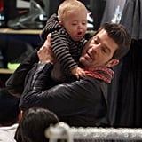 Pictures of Robin Thicke and Paula Patton Shopping With Their Son