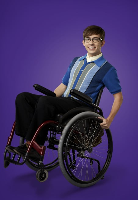 Kevin McHale as Artie on Glee.