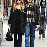 Rachel Zoe and Rodger Berman walked arm in arm through SoHo.