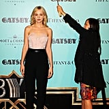 The Great Gatsby star Carey Mulligan was looking divine on a rainy red carpet in Sydney on May 22, as she helped premiere the film.
