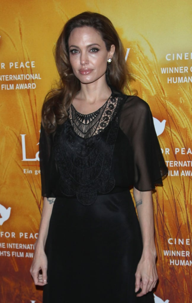 Angelina struck a pose for the cameras at the premier of The Lady.