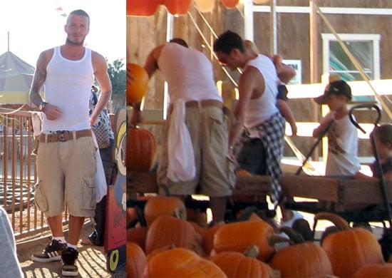 Photos of David Beckham, Victoria Beckham, Brooklyn Beckham, Romeo Beckham, Cruz Beckham at the Pumpkin Patch