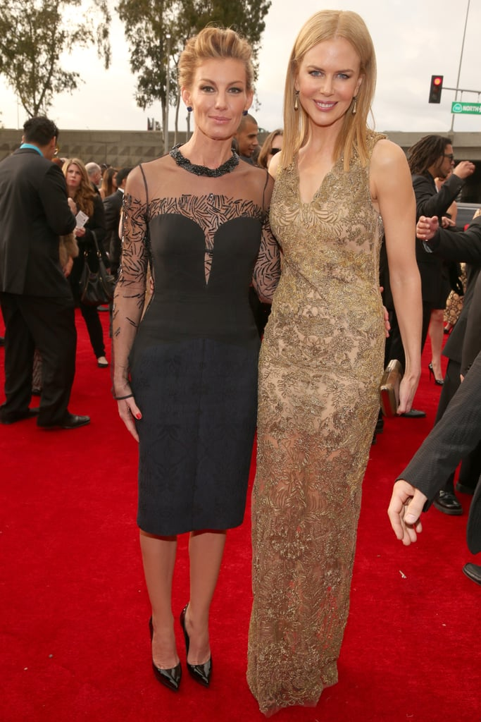 Nicole Kidman linked up with Faith Hill on the red carpet at the Grammys.