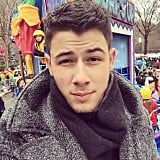Nick Jonas snapped a selfie from the Macy's Thanksgiving Day Parade.