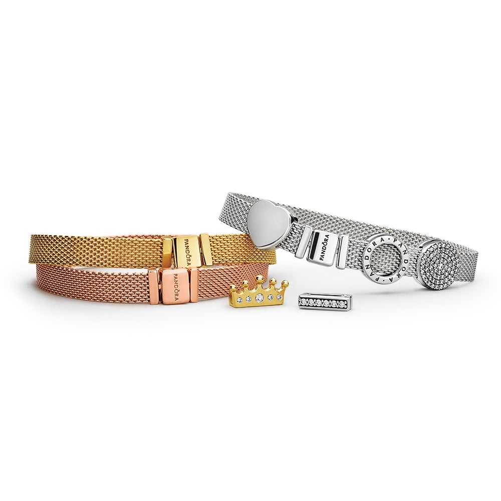 PANDORA Reflexions Bracelets (from $89), PANDORA Reflexions Clip Charms (from $39)