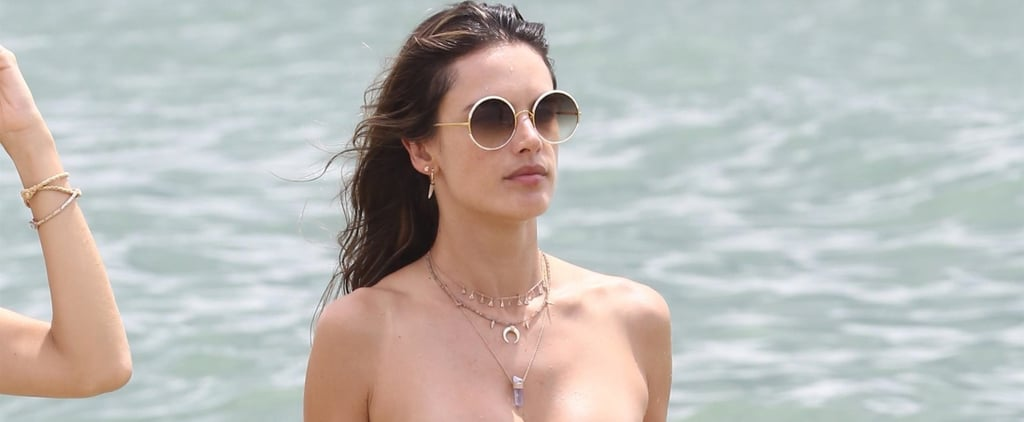 You Don't Have to Look Twice to Notice the Sexy Cutout on Alessandra Ambrosio's Orange Bikini