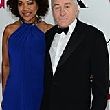 Robert De Niro and his wife, Grace Hightower, smiled.