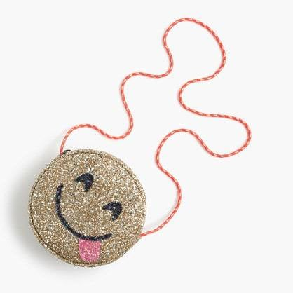 jcrew girls glitter bag yummy emoji jpg