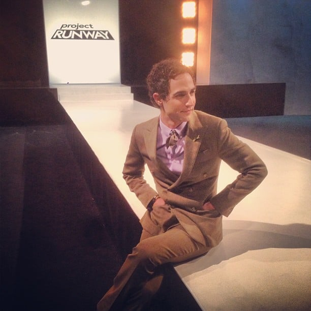 Zac Posen hung out on set before filming Project Runway. Source: Instagram user zac_posen