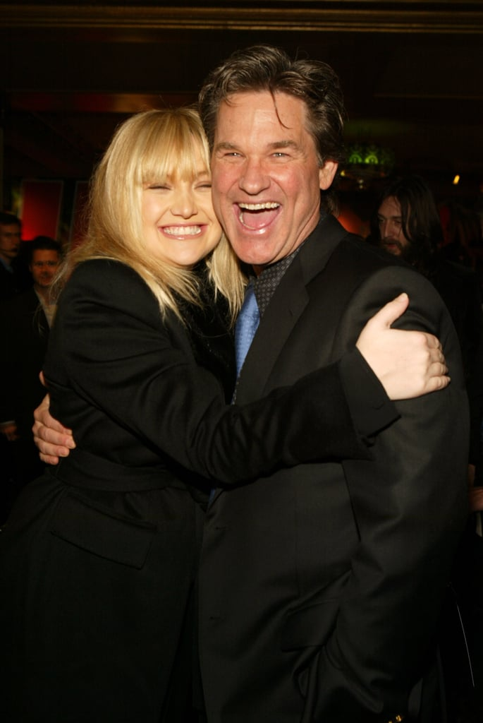 "Kate Hudson has a one-of-a-kind bond with her mother, Goldie Hawn, but she has shared some pretty sweet moments with her dad, Kurt Russell. Even though her biological father is Bill Hudson, the actress has often regarded her mother's partner, whom she calls ""Pa,"" as her main father figure. Whether they're walking the red carpet or they're catching a game together, these two always know how to make each other smile. If you love their modern family just as much as we do, be sure to check out the duo's cutest moments over the years.        Related:                                                                Kurt Russell and Goldie Hawn's Modern Family Is Absolutely Golden                                                                   Kate and Goldie Are the Most Fun Mother-Daughter Duo Ever"