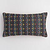 Oversized Zigzag Diamond Indoor Outdoor Lumbar Pillow