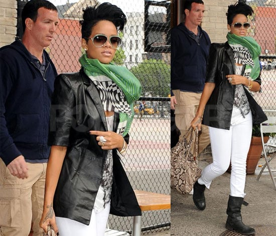 Photos of Rihanna Leaving Da Silvano in NYC