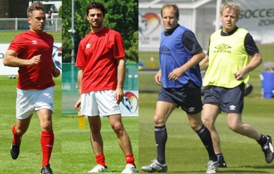 Pictures of Soccer Aid Training
