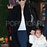 Jennifer Lopez and Emme Muñiz were equally chic for a crisp Fall day in NYC.