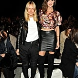 Lara Bingle and Nicole Trunfio at Zimmermann's 2014 Autumn Winter New York Fashion Week Show