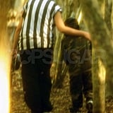 Maddox chatted with one of the refs.