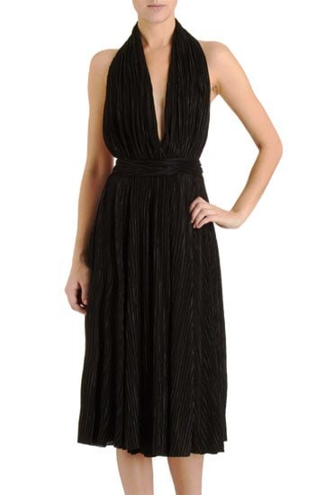 "Can you say ""Marilyn Monroe""? This gorgeous halter dress not only reminds us of that epic The Seven-Year Itch scene, but in such a darker hue, it also proves a sexy cocktail number. L'Agence Marilyn Halter Dress ($179, originally $446)"