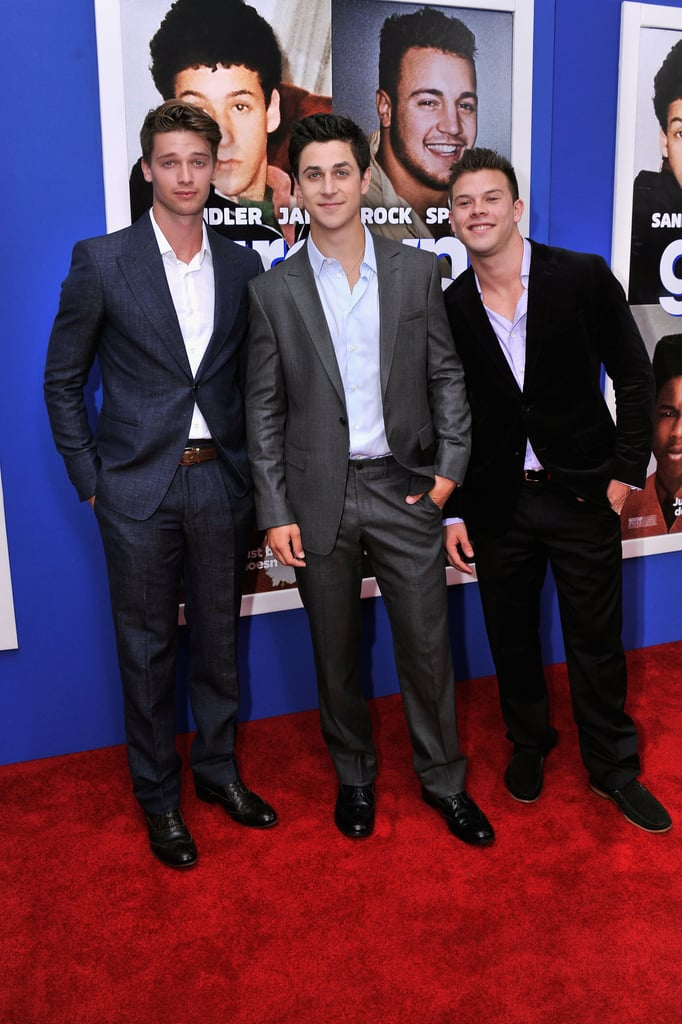 Patrick posed with David Henrie and Jimmy Tatro.