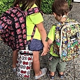 Sarah Michelle snapped a sweet back-to-school picture of her kids in August 2015.