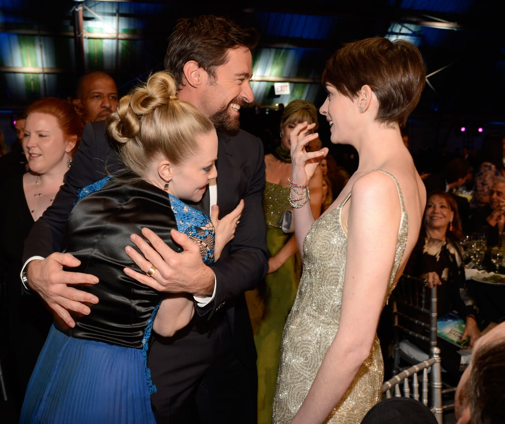 Anne Hathaway Engaged Celebrity Save The Dateanne: Amanda Seyfried, Hugh Jackman, And Anne Hathaway Got Silly