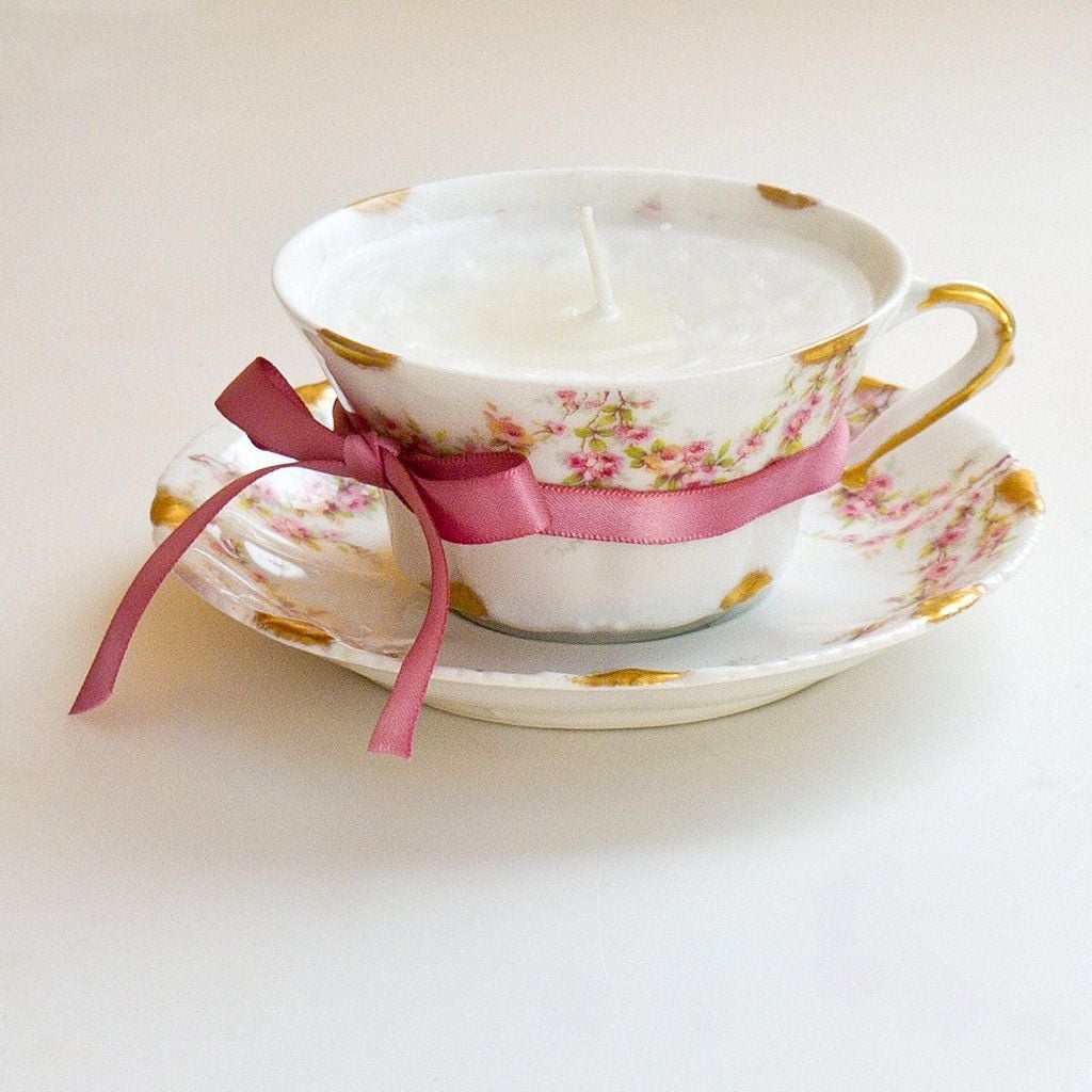 Old Teacup Candles