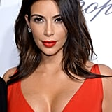 Kim Kardashian's Cherry Red Lip in 2014