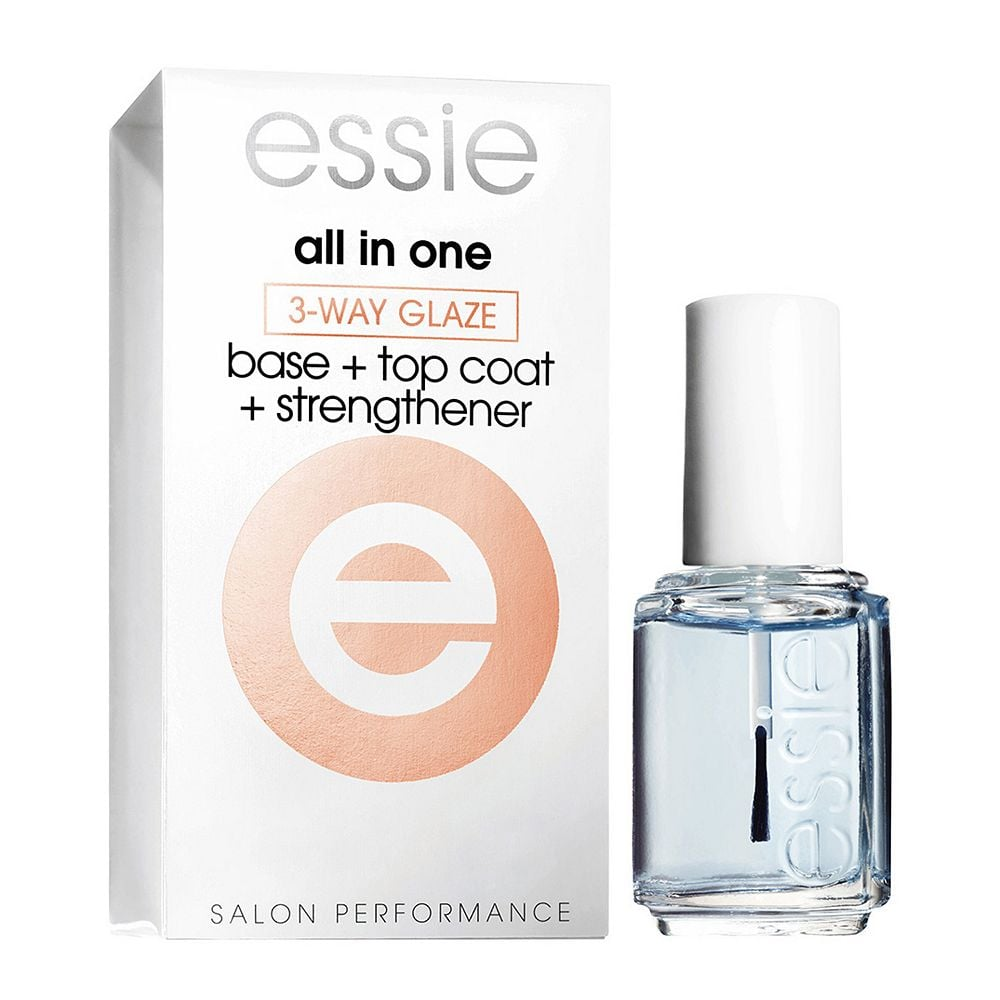 A 3-in-1 base coat, top coat, and nail strengthener